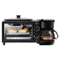 Frühstück Maschine Multifunktionale 3 in 1 Mikrowelle Kaffeemaschine Mini Elektroherd Haushaltsgeräte Backblech
