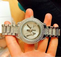 Wholesale Classic Diamonds letters Clock dial Luxury Quartz ...