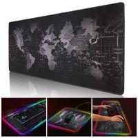 Juego Mouse Pads RGB Gamer grande Big Mat Computer Mousepad LED Retroiluminación Superficie Teclado Escritorio