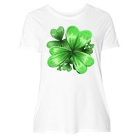 Inktastic Painted Clover Patch- Shamrocks For St. Women&#039...