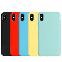 아이폰 XS 최대 XR 소프트 TPU 뒤 표지에 대한 아이폰 X 8 7 6S 플러스 모조 액체 실리콘 전화 케이스
