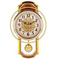 Vintage Pendoulum Orologio Parete Home Decor Prodotti Silenziosi Orologio Shabby Chic Reloj Pared Grande Home Decor