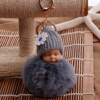 Wholesale 12 Colors Genuine Rabbit Fur ball sleeping baby Pl...