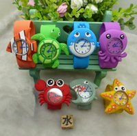Hot Models Ocean Watch Animal Series Slap Cartoon animal mignon Slap snap montre la conception mixte silicone poignet Montre pour les enfants cadeau