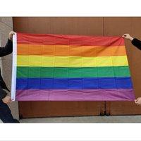 6styles Rainbow Flag Transgender Homosexuell Pride Banner lesbisch bisexuell transgender LGBT Regenbogen-Homosexuell Pride-Flaggen-Party Banner GGA3491-2