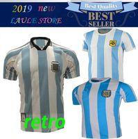 Rétro version 1986 Argentine domicile maillot de football Messi Maradona CANIGGIA 1978 Maillot de football de qualité Batistuta 1998
