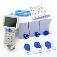 10 주파수 RFID 복사 암호화 된 NFC 스마트 ID 12PCS KeyFbobs가있는 Smart ID IC 카드 판독기 작성기