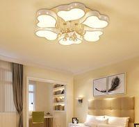 Nuevas lámparas LED moderno de cristal para el dormitorio sala de estar comedor acrílico interior lámpara lámpara casera accesorios en forma de corazón MYY