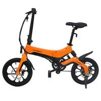 onebot s6 휴대용 접는 전기 자전거 250w 모터 최대 25km / h 6.4Ah 배터리 - 오렌지