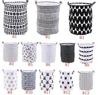 As roupas de armazenamento baldes Bins Crianças Toy Basket Bag Organizador Lavandaria saco de mão Canvas Storage Bag Lavandaria Grande armazenamento Totes LSK153
