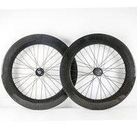 165-166 허브 클린 처 또는 관 700C 탄소 바퀴와 기어 자전거 고정 된 한 쌍의 자전거 카본 휠 커플의 88mm