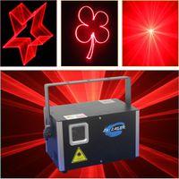 2W Single Red Color SD Card Laser Disco Party Bühnenbeleuchtung mit DMX512 ILDA-Schnittstelle