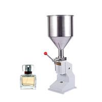 Qihang_top imbottigliatrice 5-50ml manuale Liquido di riempimento in acciaio inox macchina di rifornimento per Shampoo Crema Cosmetic Bottler