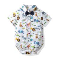 Verão bebê menino roupas de bebê romper algodão Dos Desenhos Animados Do Bebê Infantil Menino Roupas de Grife Recém-nascido Romper criança menino roupas Macacão A3137