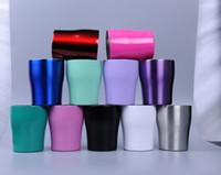 Изгибая массажеры 10oz Stianless сталь массажер Multicolor талии Чашки бутылки воды черешка Изогнутые Чашка кофе Пивная кружка с крышкой