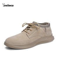 Genuine Leather Casual Shoes For Men Fashion Sneakers Mens C...