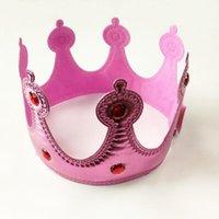 Crown Headwear Brown Crown King Rainha Princesa Head Head Fantasia Vestido Ajustável Crianças Adult adultos Chapéus de festa Decoração GGA2959
