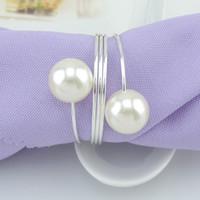 Perle Serviettenring Metall Serviettenschnalle Serviettenhalter Für Hotel Restaurant Tischdekoration Hochzeit Liefert
