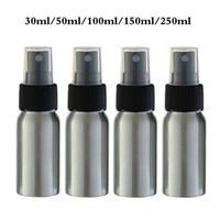 30ml 50ml 100 ml 250ml Aluminium Puste Atomizer Refillable Perfumy Travel Spray Butelka z bielszą / czarną nasadką