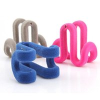 10pcs Strong Non- slip Flocking Hanger Hooks No Traces Can Be...