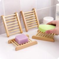 2019 Hot bambù naturale di sapone piatto di legno vassoio del supporto di archiviazione di sapone rack Piastra di sicurezza per il bagno Piatto Doccia Bagno ST073