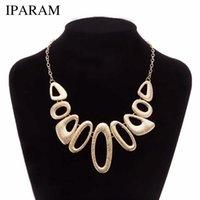IPARAM 2019 Новый металлический ожерелье мода женский короткий параграф ключицы ожерелье Личность геометрическое ожерелье моды подарок