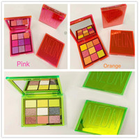 Trucco NEON 9 Colori Ombretto Palette Neon Pink Arancione Verde Shimmer opaco Glitter Eye Shadow Palette Beauty Obsessions Cosmetici DHL
