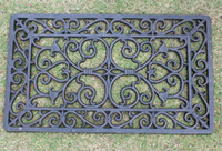Ferro de ferro fundido pequeno Durable Durable Decorative Scroll Scroll Capacete Home Cozinha Corredor Acessórios Retangular Home Jardim Jardim Decoração Retro