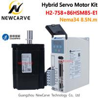 Original Leadshine 2 Phasen-Hybrid-Schrittmotortreiber Servo NEMA 34 86HSM85-E1 8,5 nm mit Geberkabel NEWCARVE