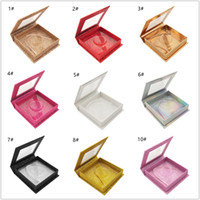 Square Magnetic Lashes Box with eyelash tray 3D Mink Eyelash...