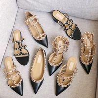 Sandales de designer Spikes Talons Hauts 2-6-10 cm En Cuir Véritable Chaussures Habillées Sexy Talons Hauts Chaussures Femme Nude Black Pump Chaussures à bride vernie