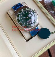 2 Yeni Sıcak satın Mens 43 mm 116610 116610LV Paslanmaz Çelik Seramik Bezel Tarihi Asya 2813 Otomatik Mekanik Noel hediyesi saatler