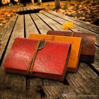 Öğrenciler Dayanıklı Boş Notebook PU Kapak Bobinler Not Defteri Kitap Retro Yaprak Seyahat Günlüğü Kitaplar Kraft Dergisi Spiral Defterler M.Ö. BH1483