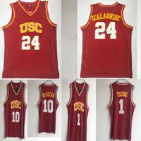 NCAA USC Trojans Colégio jerseys 24 Brian Scalabrin 10 DeRozan # 1 Nick Young esporte de basquete CAMISAS Universidade de Nova frete grátis quente