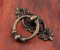 Caliente Jardín retro de aleación de zinc de la cocina del gabinete del cajón de la manija de la puerta tiradores de muebles de hardware Armario antiguo tono tiradores de bronce + Tornillo