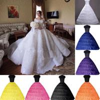 2020 bola barato vestido de 6 aros enagua Slip boda nupcial crinolina enagua Slip Layes 6 aro falda para las vestido de quinceañera CPA206
