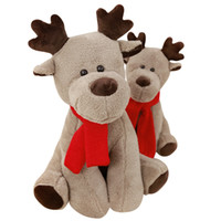 Cartoon elk plush toy animal figurine Christmas gift Valenti...