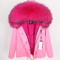 Fourrures de velours de bonne qualité Doublure Doublure Doublure Détachable manteaux de fourrure pour femmes