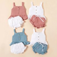 Baby Girl 2 Piece Summer Outfits Tank Top with Diaper Cover ...