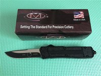 Sıcak! Cep Klip / Kılıf Taktik Bıçak hayatta kalma Araçları ile A07 Taktik Otomatik Bıçaklar MİKRO TECH Scarab 440C Blade çift ön Dişler