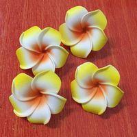 100pcs التي 6cm ورؤساء هاواي الاصطناعي رغوة فرانجيباني زهرة Plumeria لDIY الإكسسوار الشعر مناسبات الزفاف وهمية زهرة