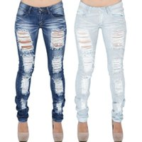 Fashion Jeans For Women Stretch Distressed Hole Ripped Slim ...