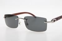 الجملة منحوتة خشب بدون إطار نظارات مصمم العلامة التجارية 3524012 منحوت الخشب نظارات شمسية بالجملة العلامة التجارية الراقية HOT النظارات الشمسية الظلام