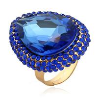 شعبية كبيرة خاتم الماس بيع كريستال مبالغ فيها افتتاح السبابة الدائري امرأة