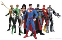 DC Superman Batman Collectibles Justice League 7-Pack Action Figure Superman Model Collection Toy Gift 7Pcs / Set