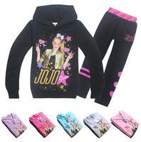 6 estilos nueva primavera otoño JOJO SIWA Ropa para niñas Camiseta de manga larga + Pantalones 2 unids Traje deportivo Ropa para niños Conjunto de ropa infantil