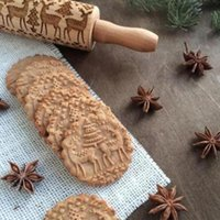 Rouleaux à pâtisserie en bois de Noël gravé gravé rouleau à pâtisserie avec flocon de neige de symboles de Noël