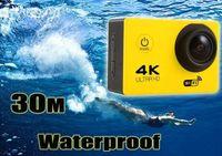 """Cámara deportiva a prueba de agua 4K HD Acción Buceo WIFI de 2 """"Cámaras a prueba de agua de 30 metros Cámaras 1080P Full HD 140 ° Sport DV Colores del auto"""