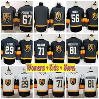 2019 Youth Vegas Golden Knights 29 مارك أندريه فلوري ويليام كارلسون 67 Max Pacioretty Marchessault Haula Kids Womens Mens Hockey Jerseys