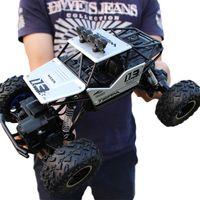 Venta caliente 28 cm Super-grande montaña de escalada de cuatro ruedas Control remoto Modelo de juguete Off-Road Car Rock Escalada Coche Control de niños Juguetes